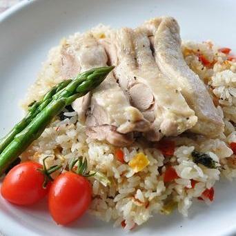 炊飯器で簡単!乾燥野菜のまろやか鶏めし