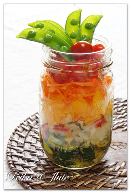 熊本とっぺん野菜とHOSHIKOのジャーサラダ