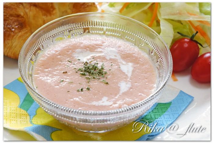 トマトとサラダ玉ねぎのスープ