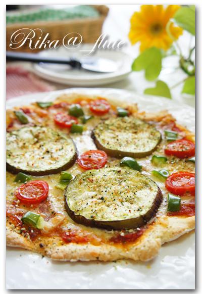 赤茄子とお野菜の旨みたっぷり超簡単ピザ
