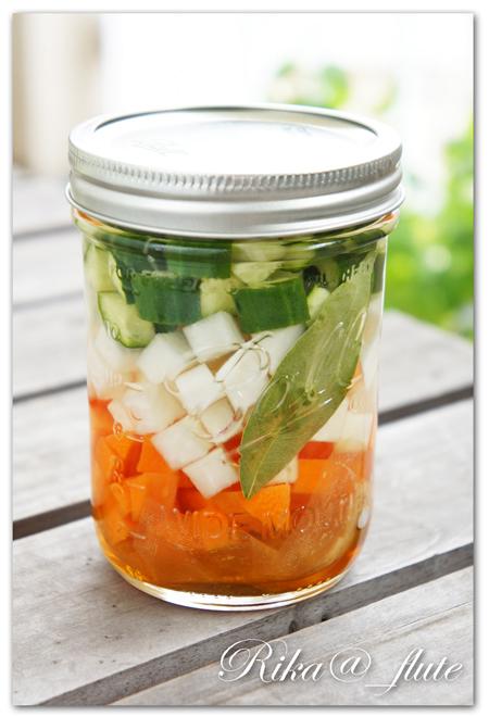 野菜だしの三色ピクルス
