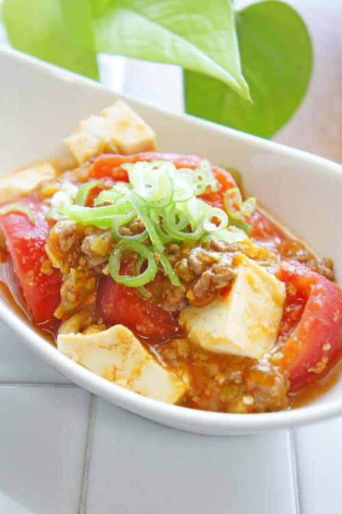 餃子 HOSHIKO で簡単!トマト麻婆豆腐
