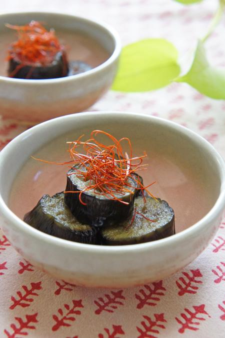 茄子の野菜だしピリ辛煮
