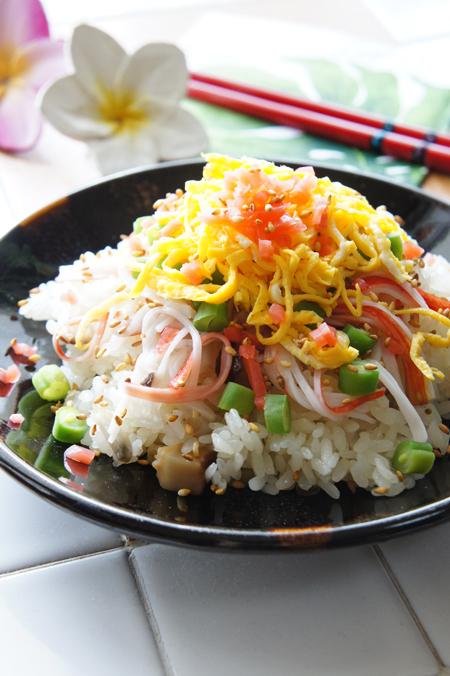 炊き込みHOSHIKO で簡単チラシ寿司